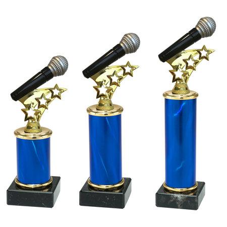 Microfoon trofee blauw