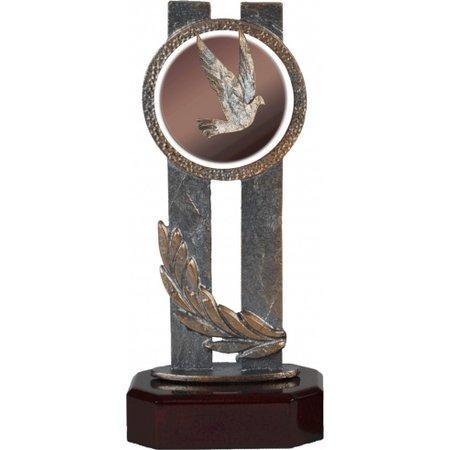 Duiven trofee van metaal