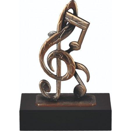 Muziek trofee van metaal