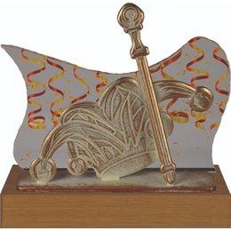 Carnaval steek met scepter Trofee