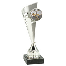 Trofee met resin Padel afslag