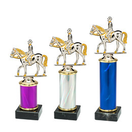 Trofee met Ruiter 3 maten en kleuren