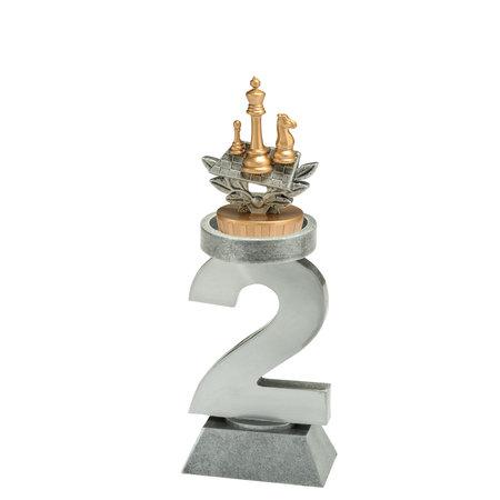 1-2-3 trofee met figuur 19cm