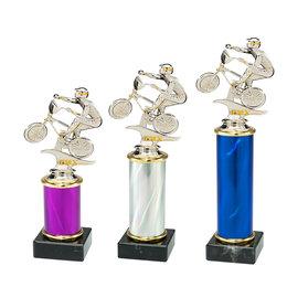 Trofee met BMX 3 maten en kleuren