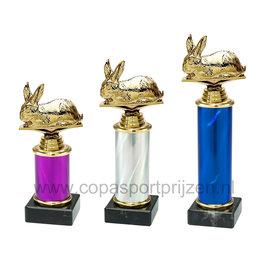 Trofee Konijn 3 maten en kleuren