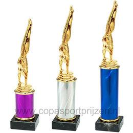 Trofee met turner 3 maten en kleuren
