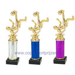 Trofee dames voetballer omhaal