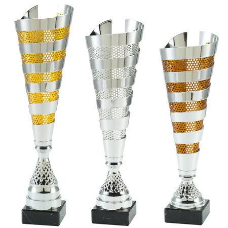 Luxe bekers Goud,zilver en brons