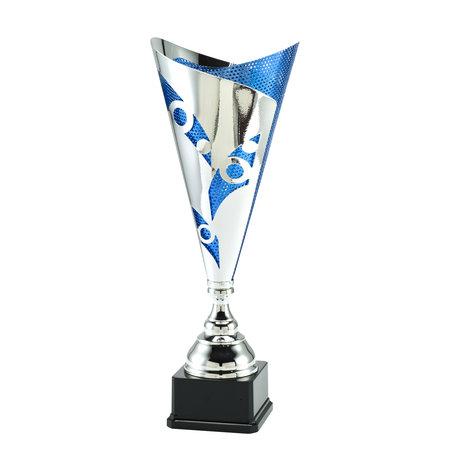 Trofee zilver/blauw de luxe