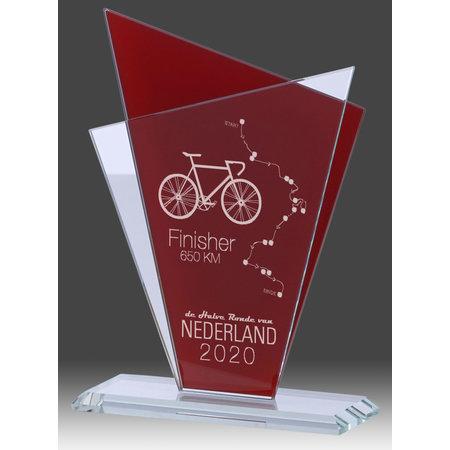 Glas standaard  Rood/Transparant