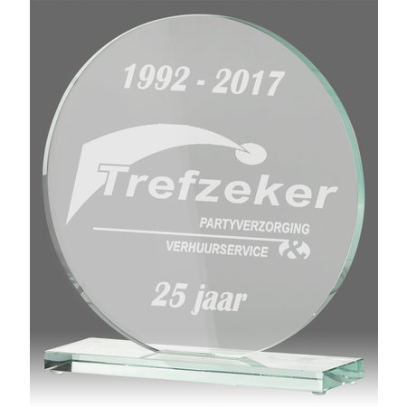 Glazen standaard trofee
