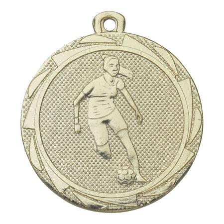 Dames voetbal medaille