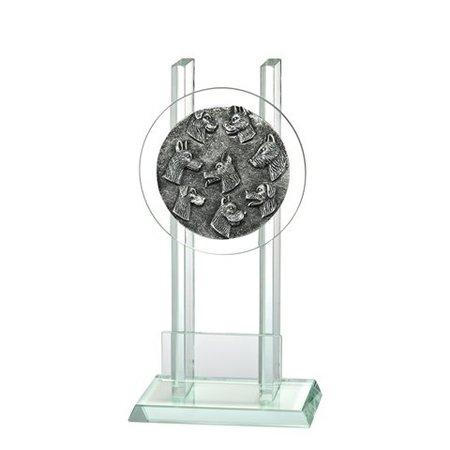 Glas trofee Hondensport