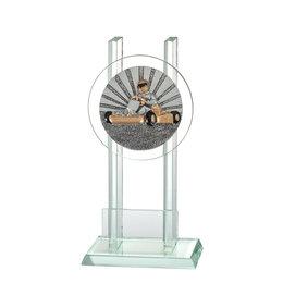Glazen trofee Karting
