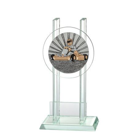 Glas trofee Karting