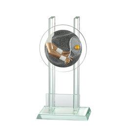 Glazen trofee Tennis