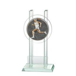 Glazen trofee Hardloop Man