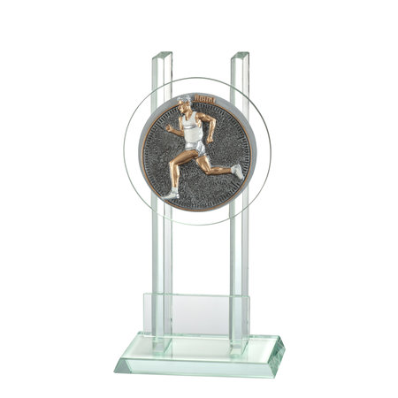 Glas trofee Hardloop Man