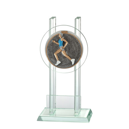 Glas trofee Hardloop Vrouw