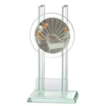 Glas trofee Tafelvoetbal