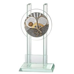 Glazen trofee Padel