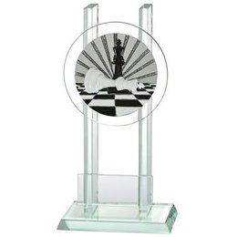 Glazen trofee Schaken