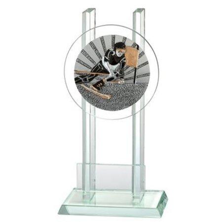 Glas trofee Skiën