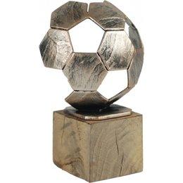 Luxe Voetbal trofee metaal 19cm