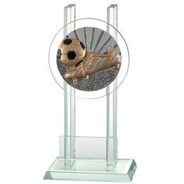 Glazen trofee Voetbal