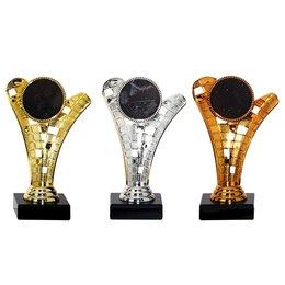 Trofee goud, zilver en brons