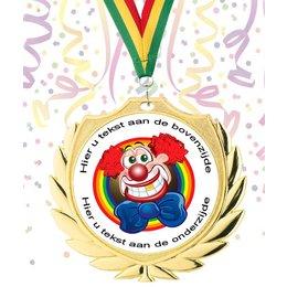 Medaille carnaval goud-zilver-brons 70mm
