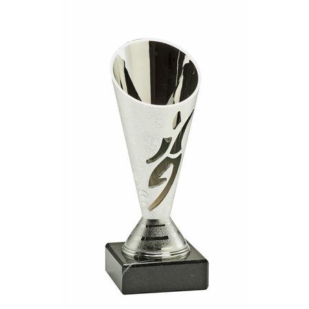 Voetbal Beker zilver 15.5cm