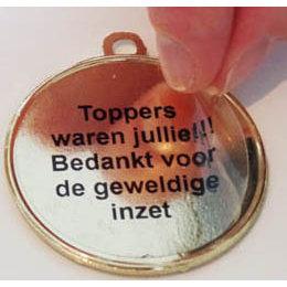 Tekstlabel voor medaille