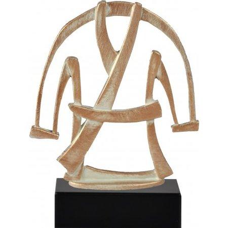 Martial arts trofee van metaal
