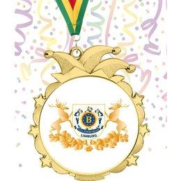 Medaille Carnaval Goudkleur 70mm