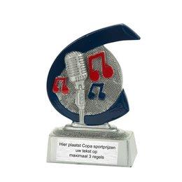 Muziek/microfoon trofee