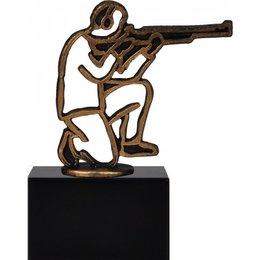 Schutter geweer figuur metaal