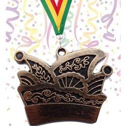 Carnavalsmedaille prinsenmuts 70x50mm