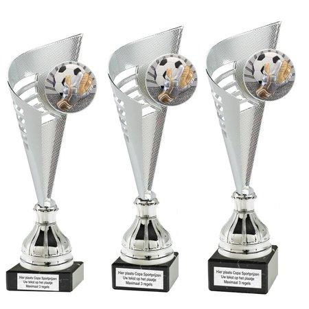Trofee met resin voetbal