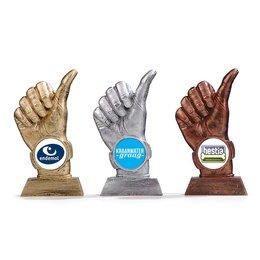 Trofee duim omhoog
