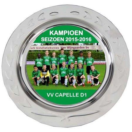 Kampioenschaal met full colour opdruk TOPPRIJS!
