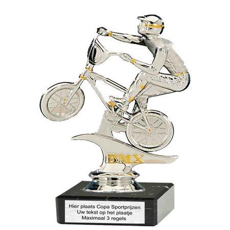 BMX figuur kunststof op marmer
