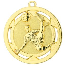 Reliëf voetbal medailles ø50mm