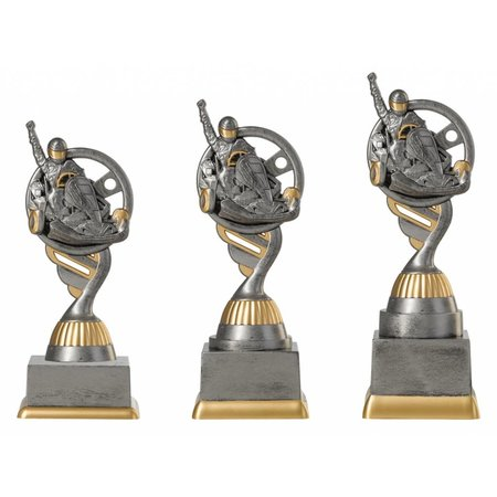 Karting trofee antiek grijs-goud