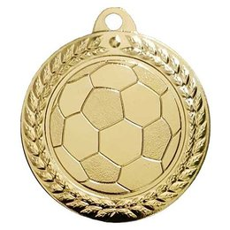 Voetbal medaille G/Z/B ø40mm