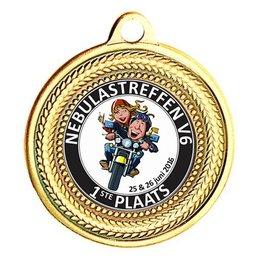 Medaille ø40mm rond Goud-zilver -brons
