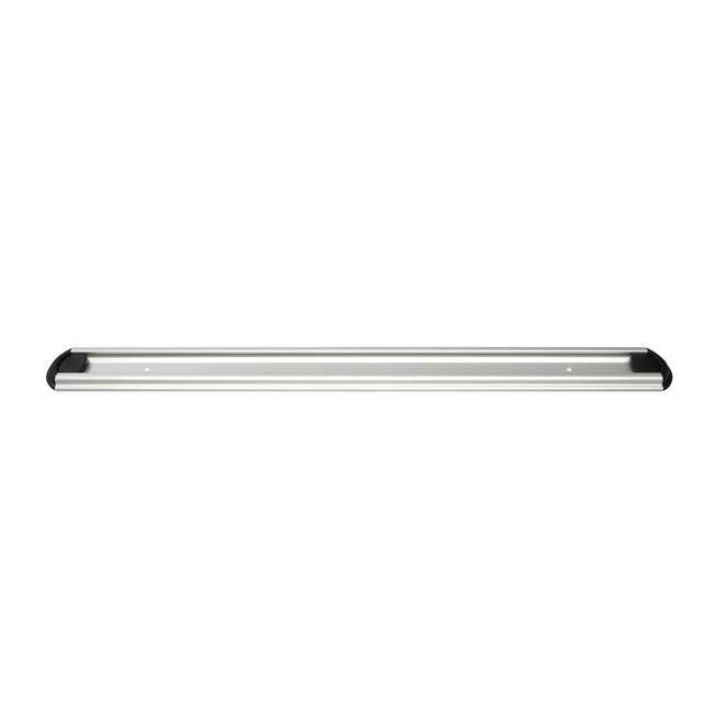 Ophangrail aluminium 500 mm met eindstop - MAGNETISCH