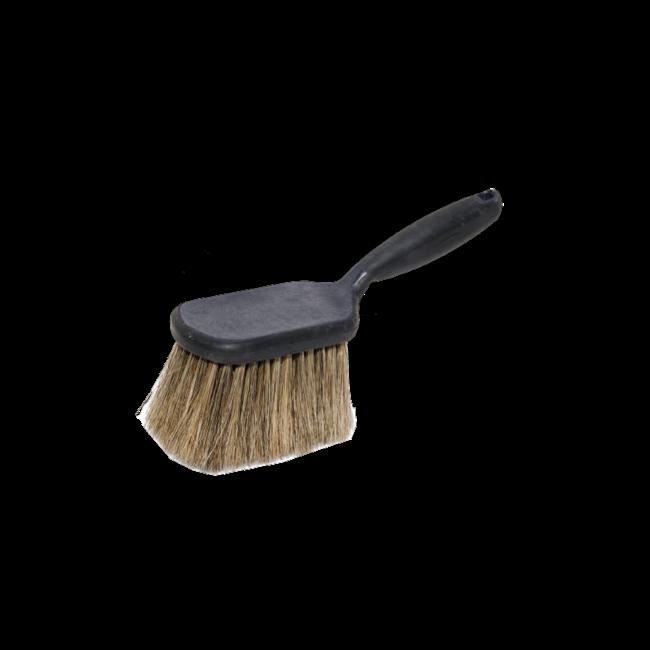 Pre-wash hand brush hog hair with short handle