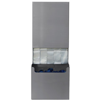 Eurobrushes Stainless steel dispenser for wiper protection covers