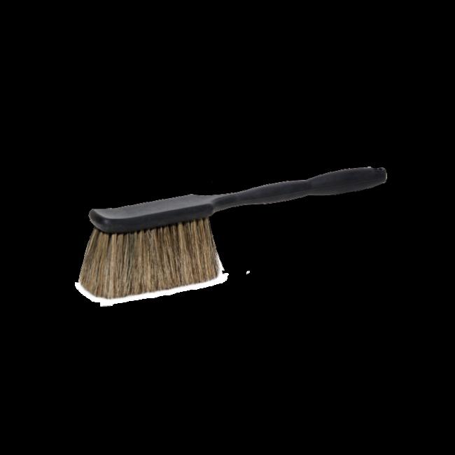 Voorwas handborstel varkenshaar met lang handvat